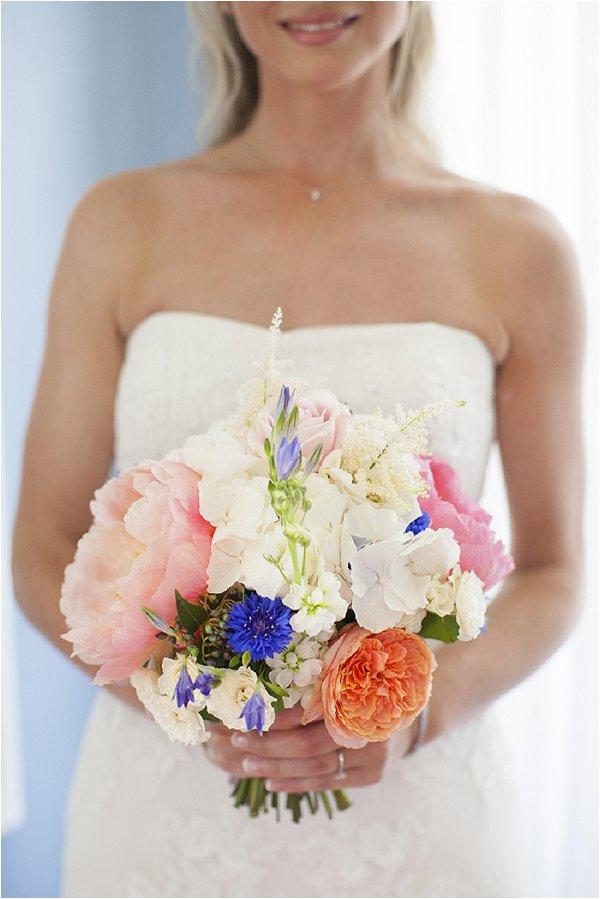 fresh cut wedding bouquet