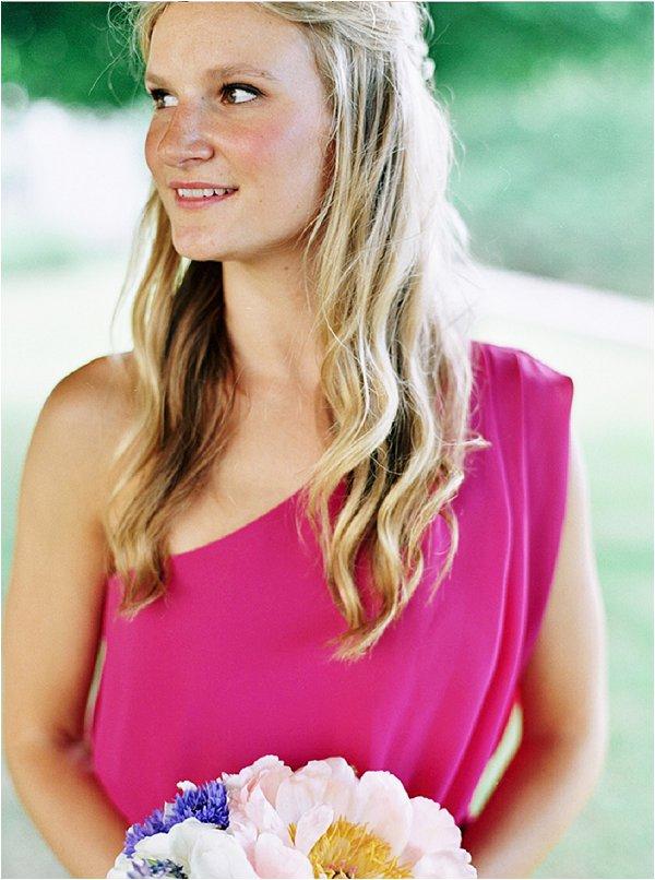 hot pink bridesmaid