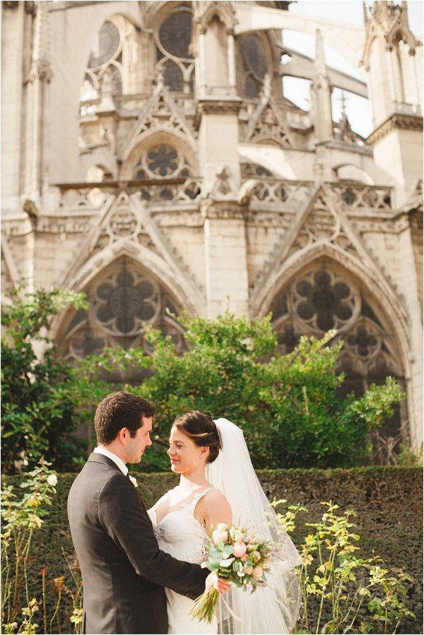 morning wedding in Paris