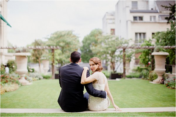 outdoor wedding in Paris