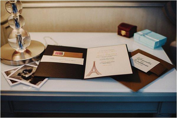 paris wedding stationery