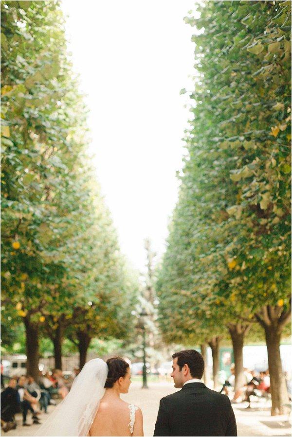 tree lined wedding