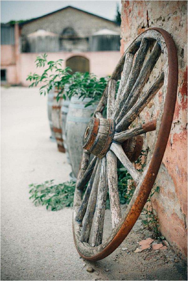 vintage wooden wheel France