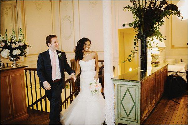 wedding reception arrival