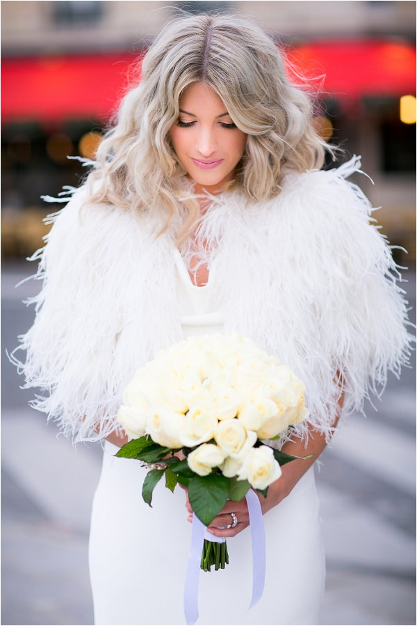 winter bridal cover up