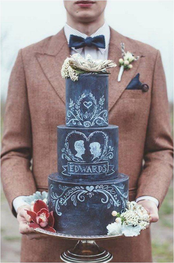 Chalkboard Wedding Cake by Artisan Cake Company
