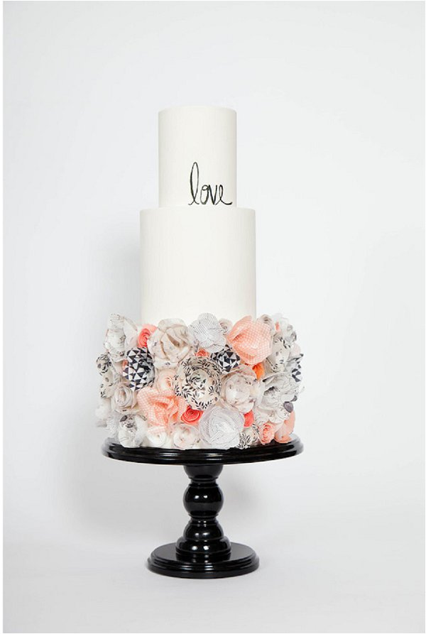 Rice Paper Flower Cake by Hey There Cupcake