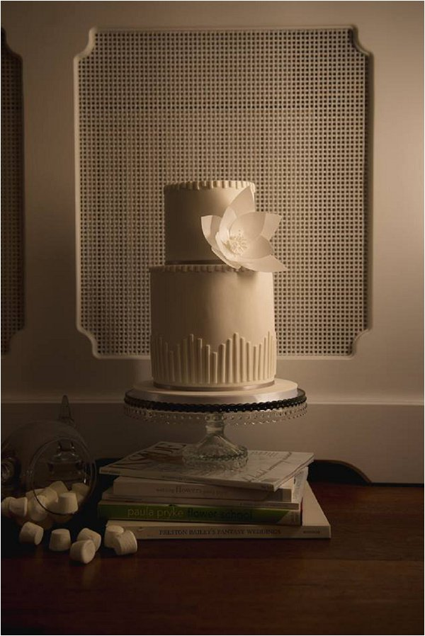 Art Deco Rice Paper Striped Cake by Cakes by Beth (Neil Redfern Photography)