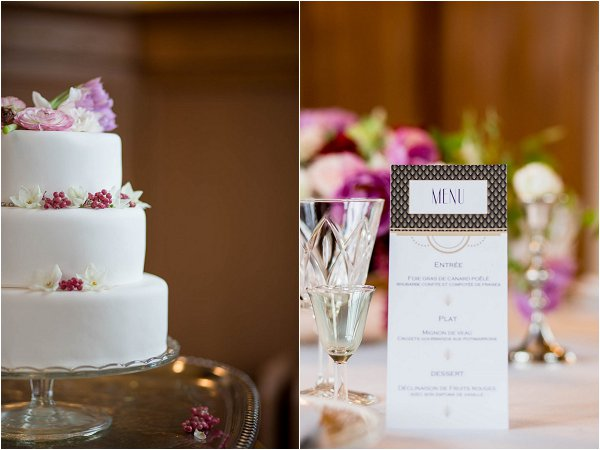bright coloured wedding table