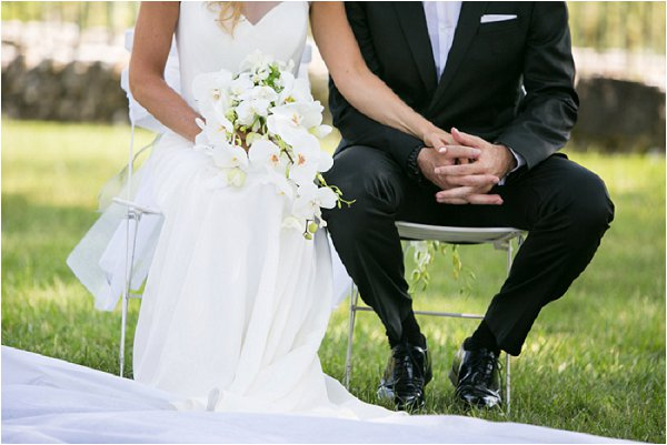 classic white black wedding