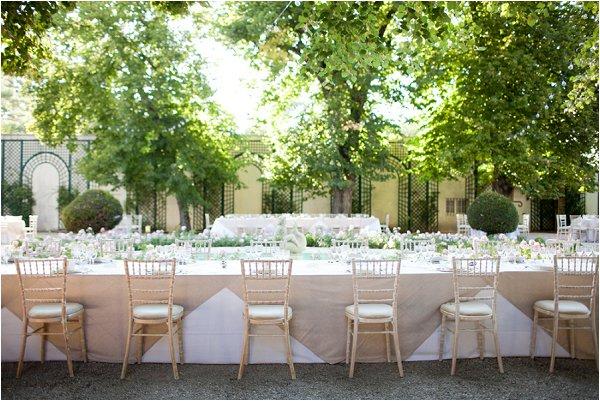 elegant outdoor wedding breakfast