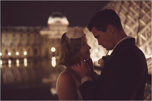 Film noir inspired wedding