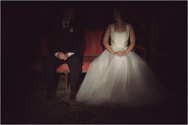 Film noir wedding dress