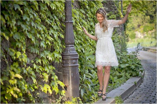 jenny packham short wedding dress
