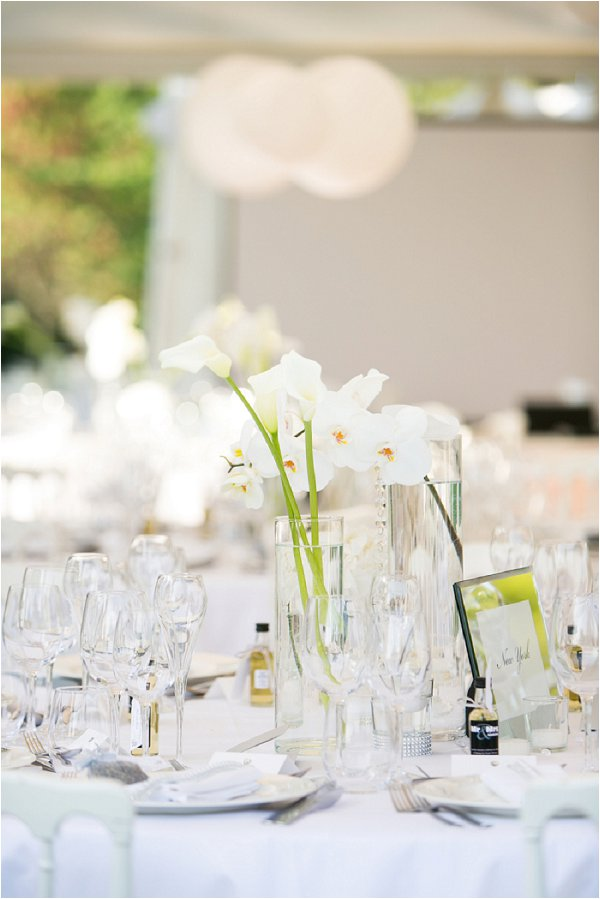 modern white wedding table