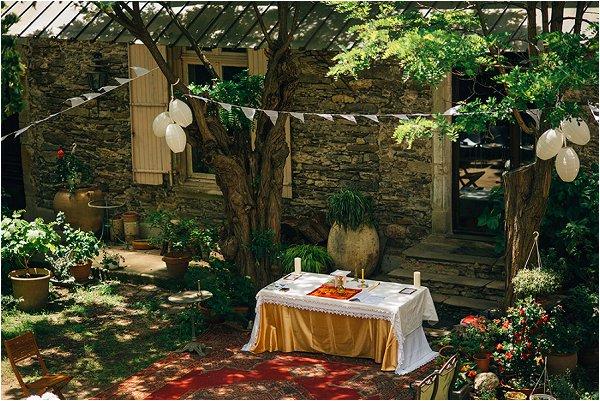 outdoor wedding service