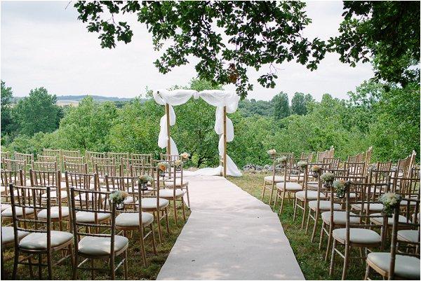 outdoor wedding style ceremony