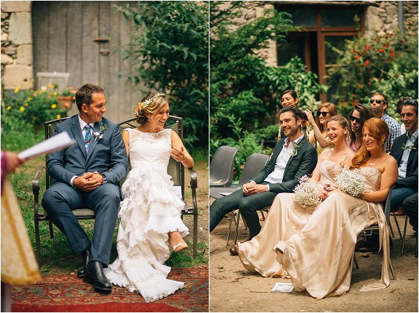 relaxed wedding ceremony