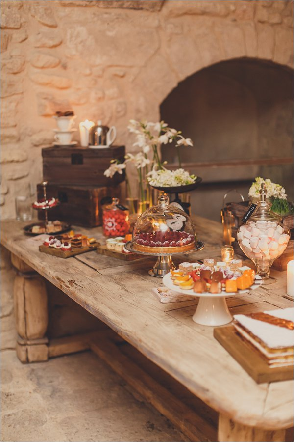 Rustic French dessert table