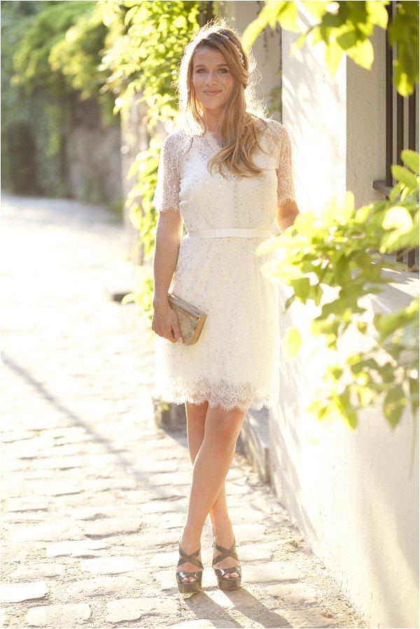 short wedding dress Paris