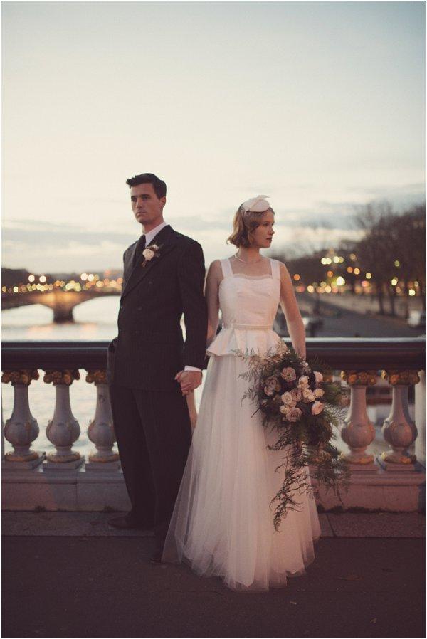 Vintage wedding in Paris |