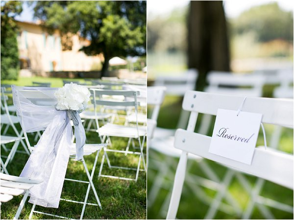 white ceremony chairs