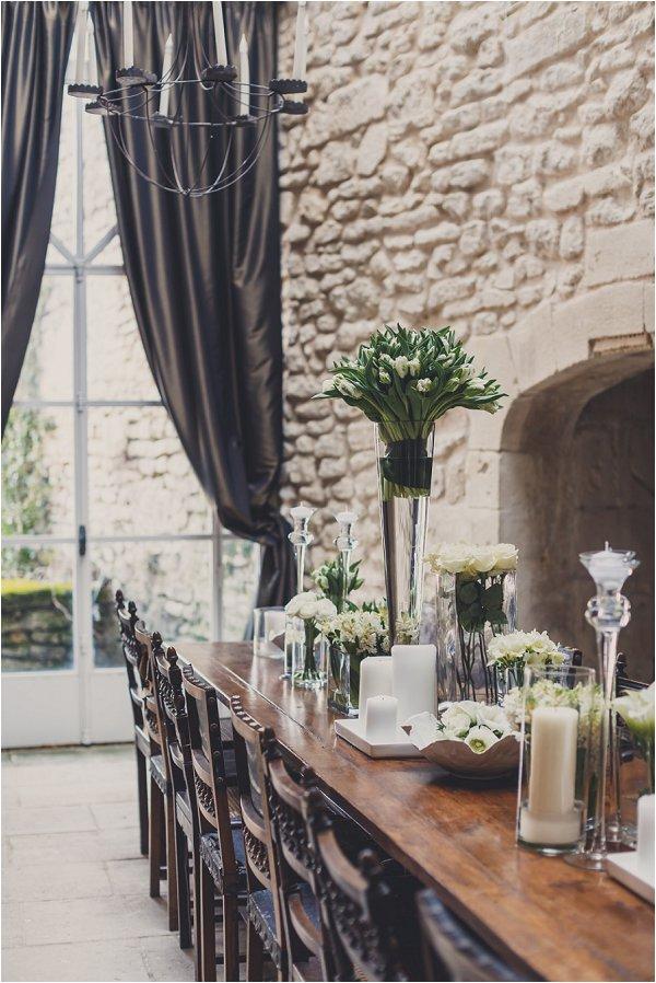 winter wedding table design