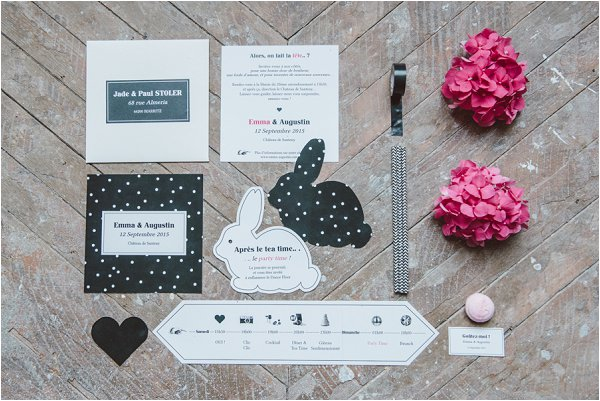 Alice in Wonderland wedding stationery