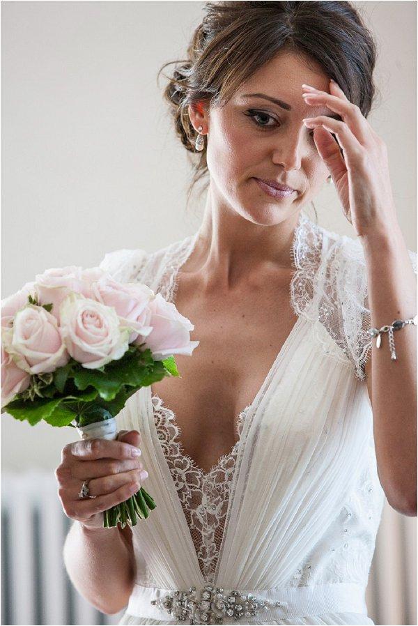 Francesca with bouquet