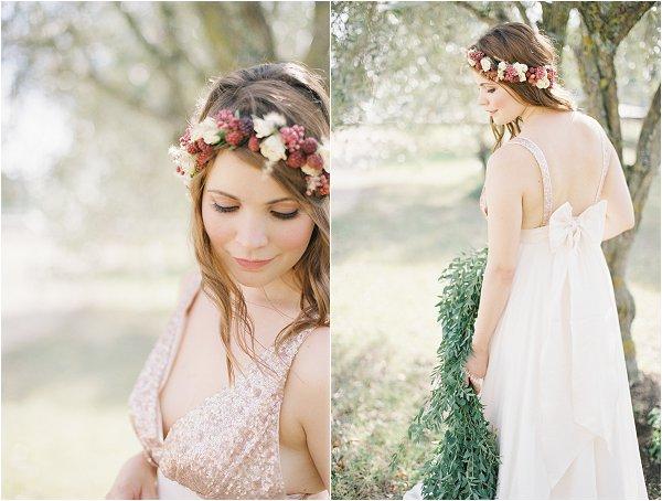 berry wedding crown