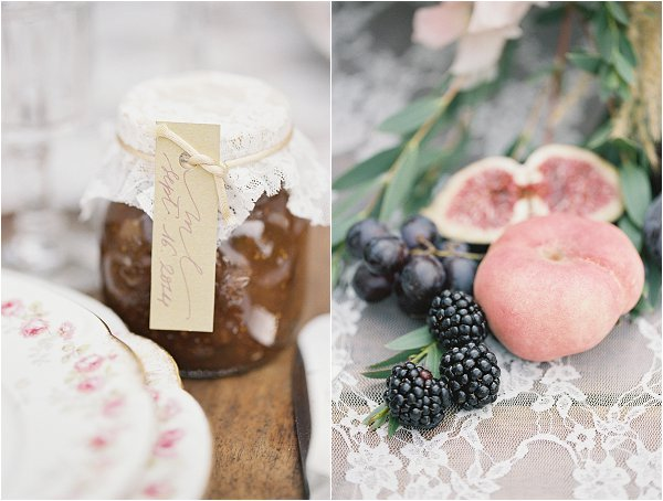 berry wedding favours