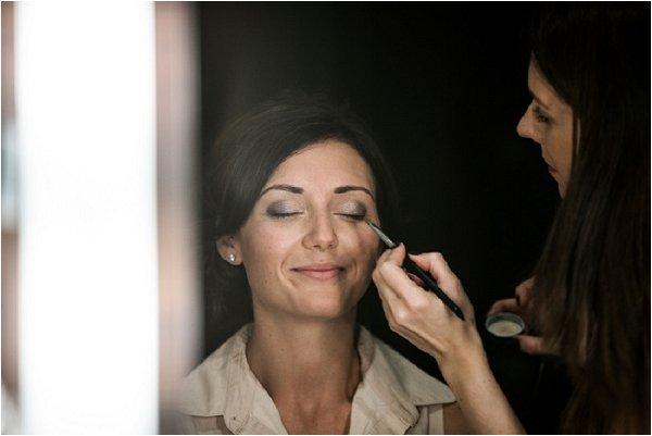 bride getting make up