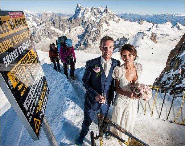 bride & groom on the reach