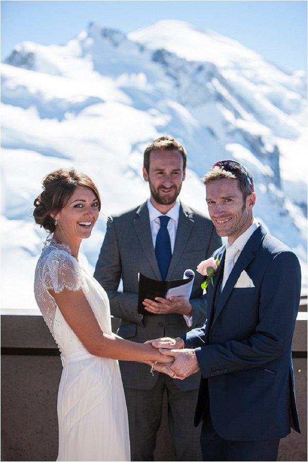 bride & groom with celebrant