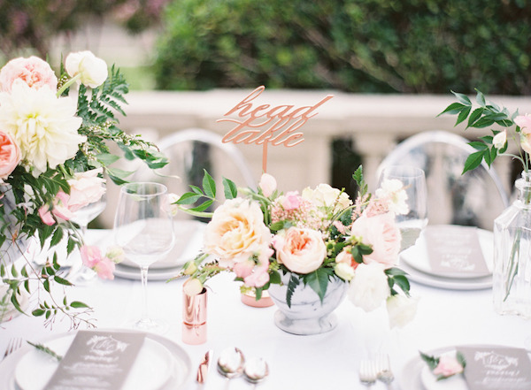elegant wedding table