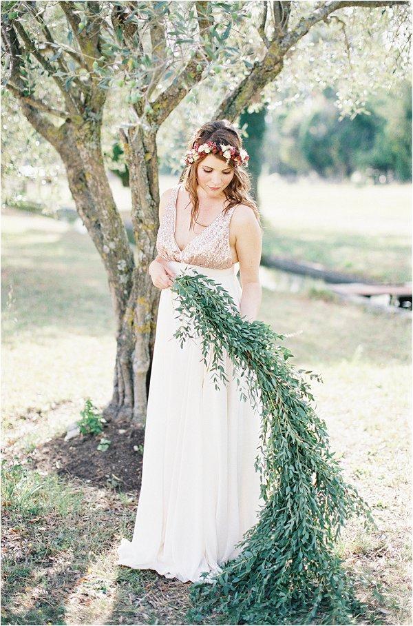 folliage bridal bouquet