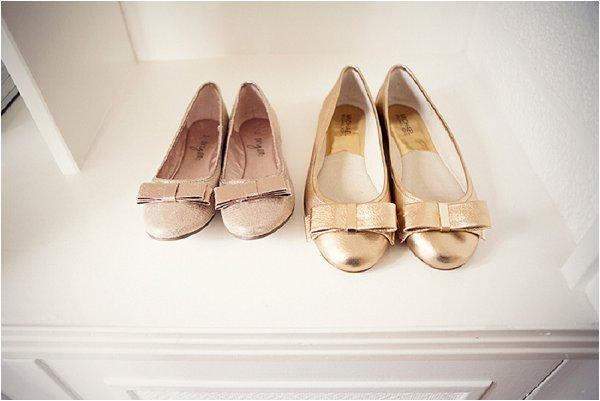 gold flat wedding shoes