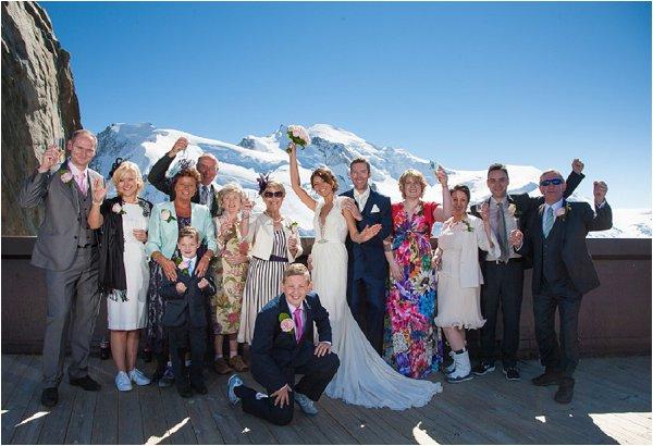 group photo & Mt Blanc