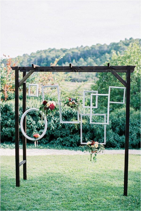 hanging picture frames wedding