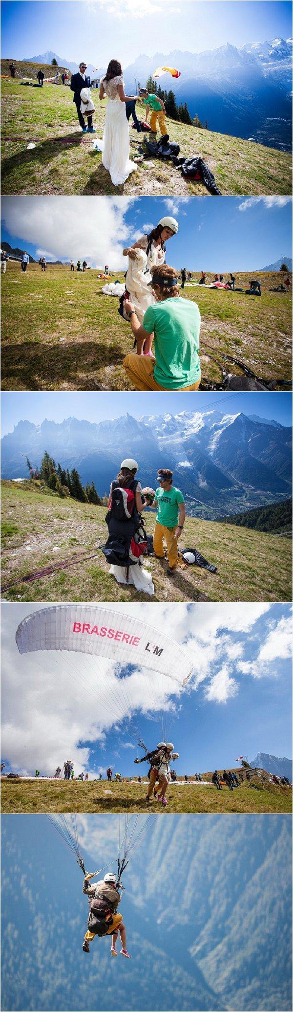 paragliding bride