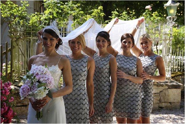 vintage style bridesmaids