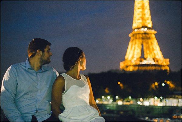 visiting paris at night