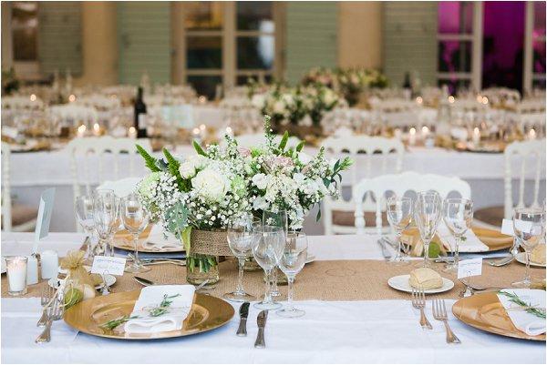 white gold wedding table