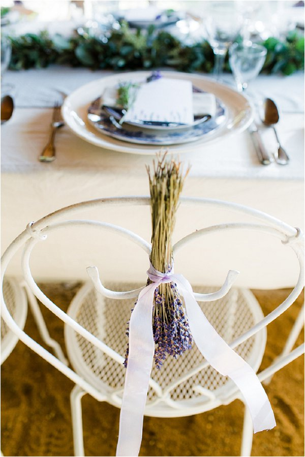 French Lavender chair decorations
