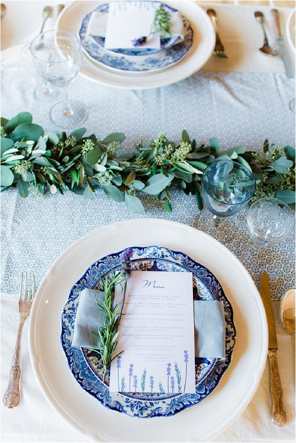 French Lavender wedding table
