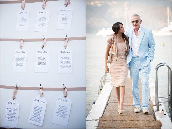 French Riviera style wedding