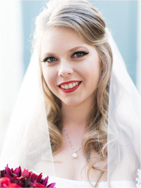 Glamorous bridal style