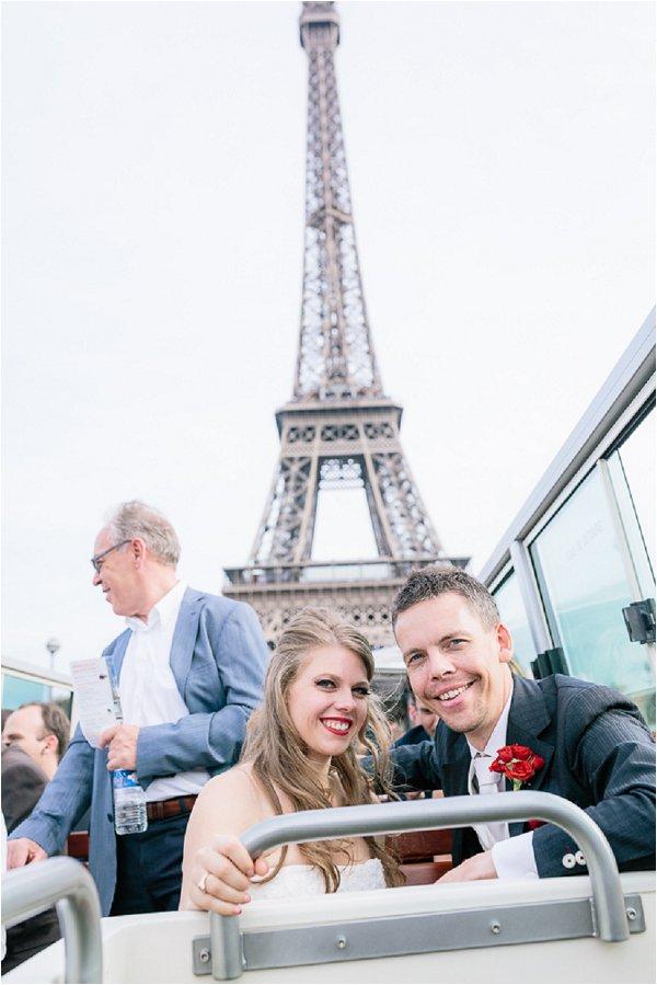 Paris tour bus wedding