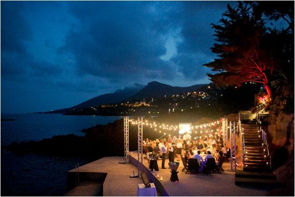 evening wedding French Riviera