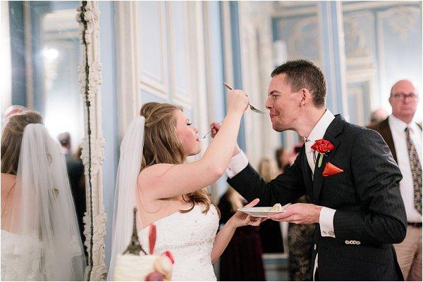 feed wedding cake